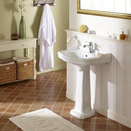 lavabo avec colonne retro ? vente lavabos porcelaine ? planete bain - Lavabo Retro Salle De Bain