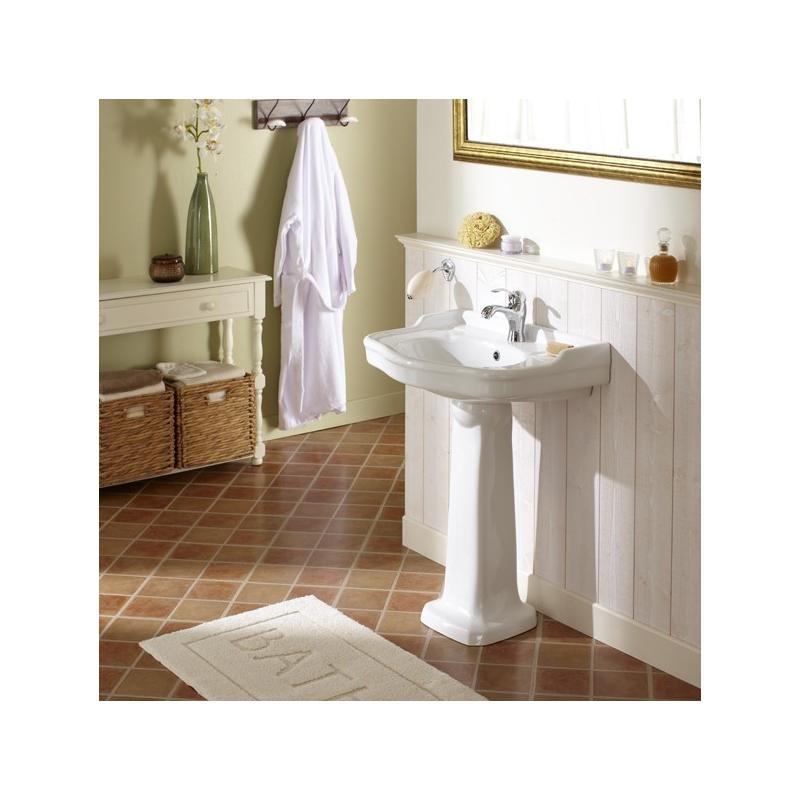 Lavabo avec colonne retro vente lavabos porcelaine planete bain - Lavabo retro sur colonne ...