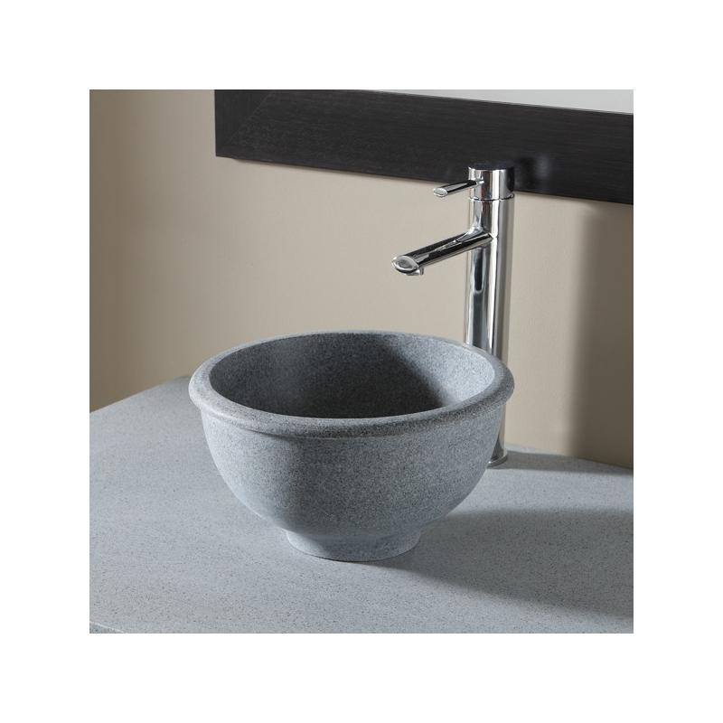 vasque a poser ronde style ancien vasques pierre grise ardoise. Black Bedroom Furniture Sets. Home Design Ideas
