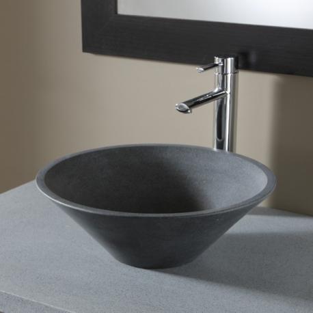 achat vasque a poser en pierre grise vasques de forme ronde. Black Bedroom Furniture Sets. Home Design Ideas