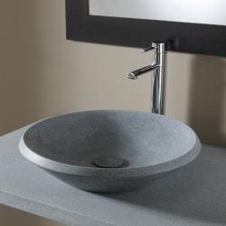 Vasque à poser ronde et plate en pierre