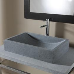 Vasque à poser en pierre naturelle Versailles Gris ardoisé