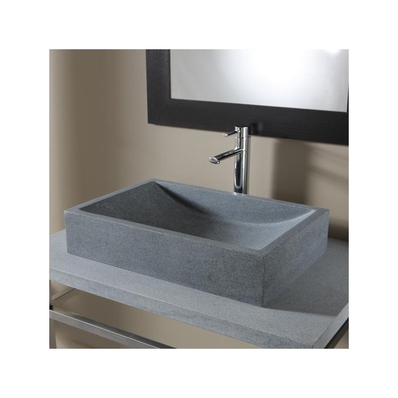 vente vasque poser rectangulaire vasques grise ardoise. Black Bedroom Furniture Sets. Home Design Ideas