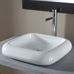 Vasque à poser carrée en céramique de qualité