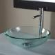 Vasque à poser ronde en verre transparent
