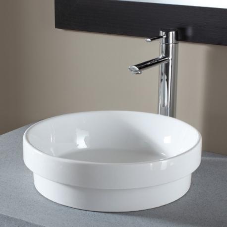 vasque semi encastree vasques en porcelaine blanche. Black Bedroom Furniture Sets. Home Design Ideas