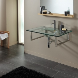 Plan vasque simple en verre design