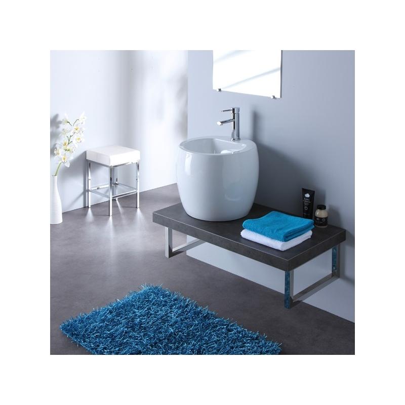 meuble salle de bain a suspendre meubles avec vasque porcelaine. Black Bedroom Furniture Sets. Home Design Ideas