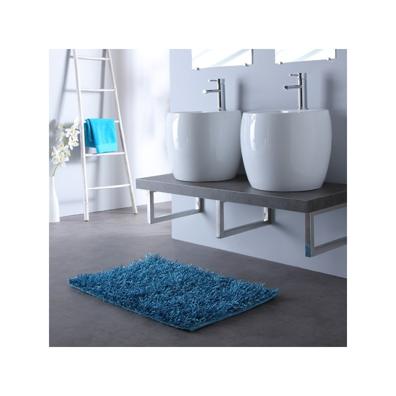 Console de salle de bain vente meuble gris double vasques - Meuble salle de bain design ...
